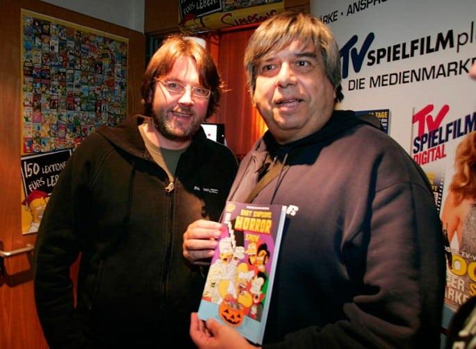Gernsehclub-Mitgründer Jörg Strombach mit Simpsons-Zeichner Phil Ortiz